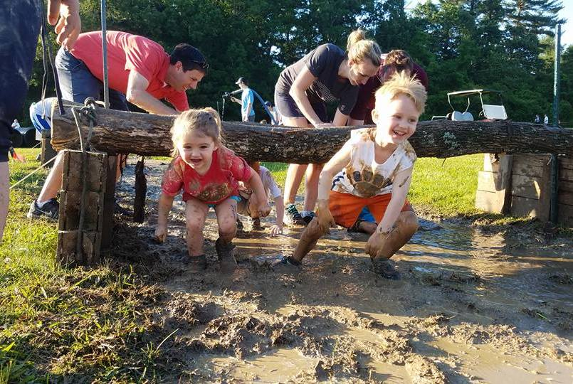 Under the log and through the MUD!