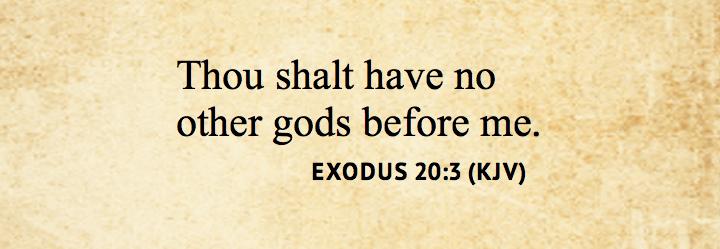 Exodus 20 3
